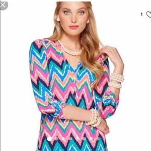 LILLY PULITZER HEARTS A FLUTTER JANELLE TOP